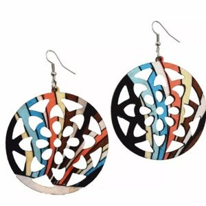 SILK MEDALLION EARRINGS